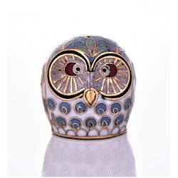 Cloisenne Owl. Estimated less than 50 yrs old