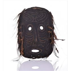 Oceanic Wood Mask, Hand Carved And Made With
