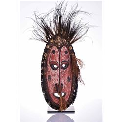 Oceanic Wood Mask, Hand Painted And Made With