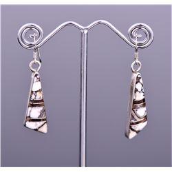 T. Wilson Sterling Silver Zuni Earrings.