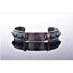 Navajo Sterling Silver Turquoise Cuff Watch