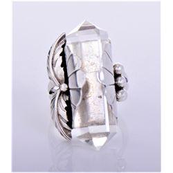 Nakai, Navajo Sterling Silver Crystal Ring