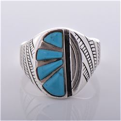 SC, Navajo Southwest Blue Turquoise Sterling