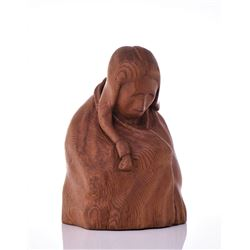Vintage Solid Wood Native American Sculpture