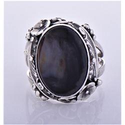 RG, Navajo Sterling Sliver Black Moonstone
