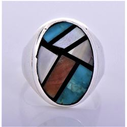 Old Pawn Zuni Sterling Silver Ring With