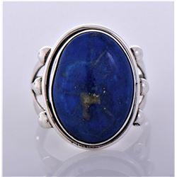 AL, Navajo Lapis Lazuli Sterling Silver Ring.