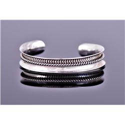 Native American Southwest Sterling Silver Cuff