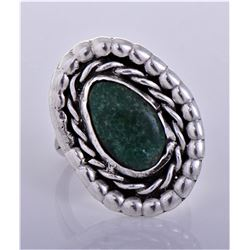 Old Pawn Native American Malachite Sterling