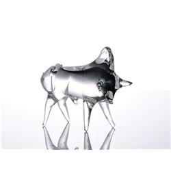 Orello, Murano Art Glass Toro Bull, Signed