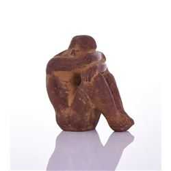 Mid Century Modern Sculpture of a Nude Clay
