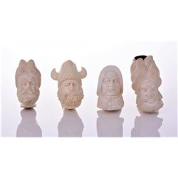 Four Large Meerschaum Pipes. Estimated more