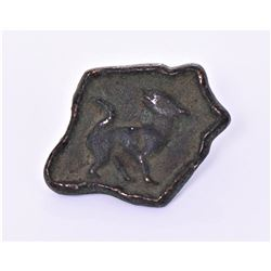Heavy Solid Bronze Button Artifact With A