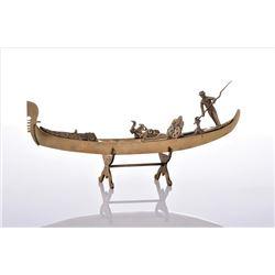 Vintage Venetian Brass Gondola Boat. Estimate