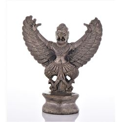 Hindu Garuda Metal Sculpture. Estimated more