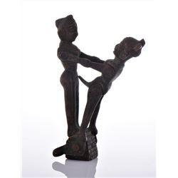 Antique India Erotic Bronze Articulated Figure