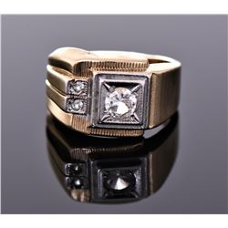 18kt Gold Heavy Gold Electroplate Ring. Markings