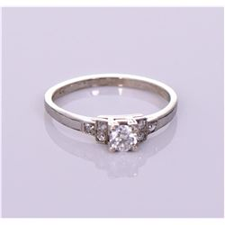0.20 CTW Antique diamond solitaire engagement