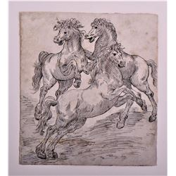Original Baroque Master Drawing of Wild
