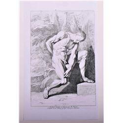 Bernard Picart (1673 - 1733) Nude male copper