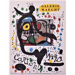 Joan Miro Lithograph, Galerie Maeght. Estimate