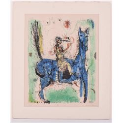 Junglee Datarai artist signed abstract colored