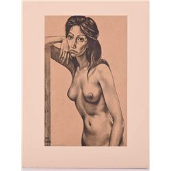 Margret Keane (born 1927) Pencil signed print