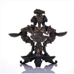 Rare Greek Mythology Tiered Scallop Server