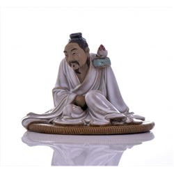 Vintage Chinese Shiwan Kiln Pottery Figure of