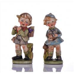 Karen, 1973 Ceramic Moppet Figures of two