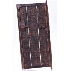 Antique African Dogon Granery Door Carved