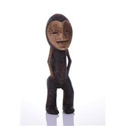 African Lega Wood Figure, Congo. Estimated