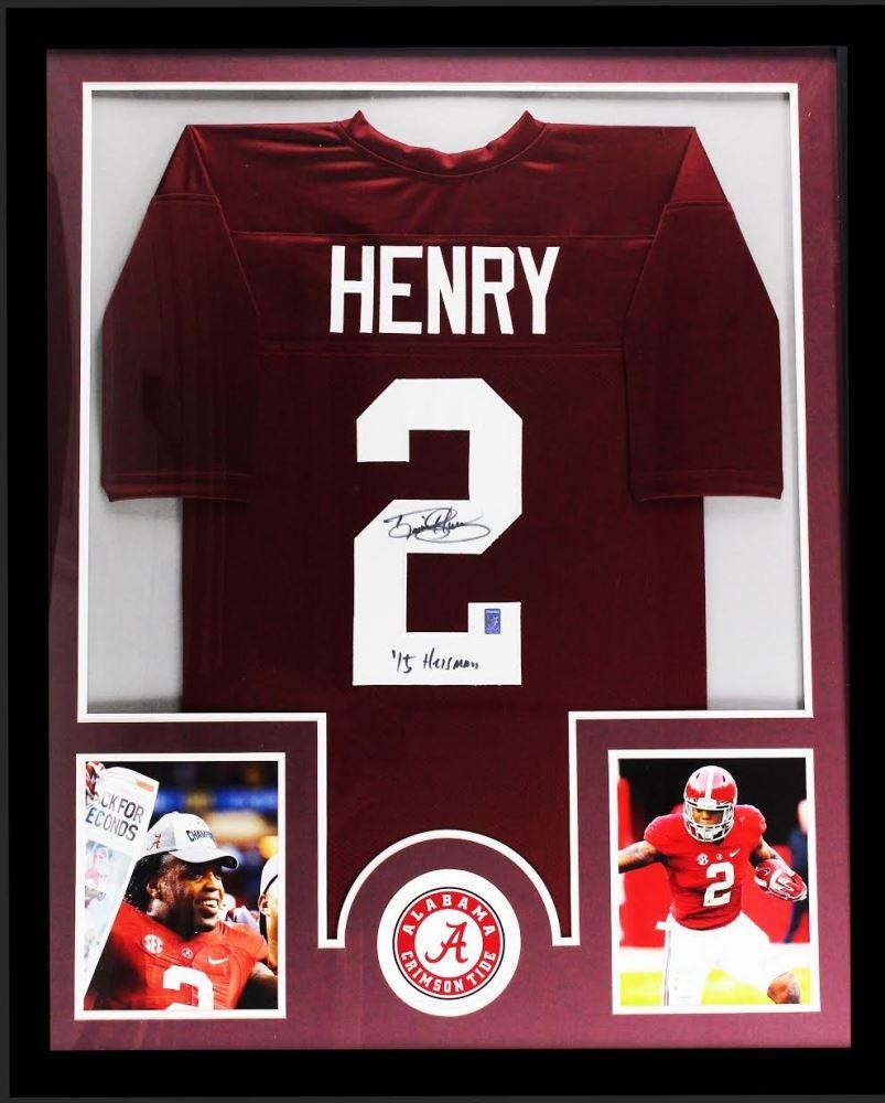 newest 40344 58099 Derrick Henry Signed Alabama Crimson Tide 34