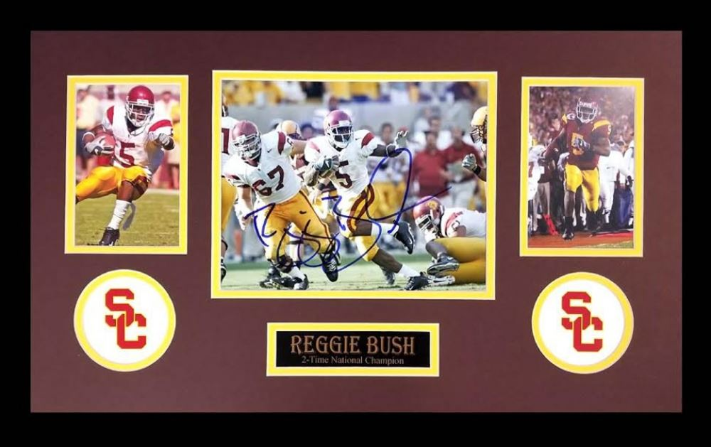 580c1c91c Image 1   Reggie Bush Signed USC Trojans 16x26 Custom Framed Photo Display  (Radtke COA