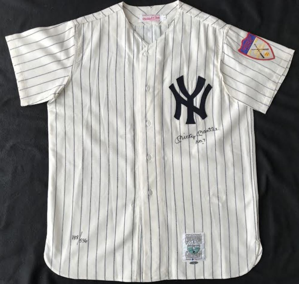 release date: 25142 edf77 Mickey Mantle Signed LE Yankees 1951 Rookie Year Mitchell ...