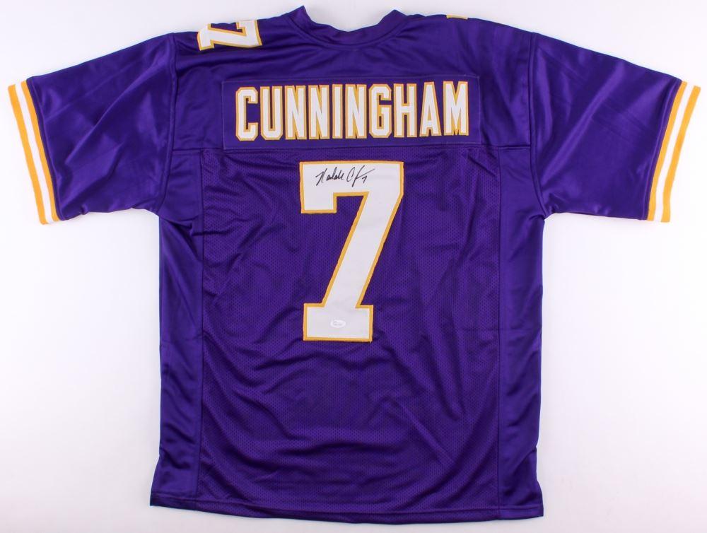 hot sale online 5fd8d 41d8a Randall Cunningham Signed Vikings Jersey (JSA Hologram)