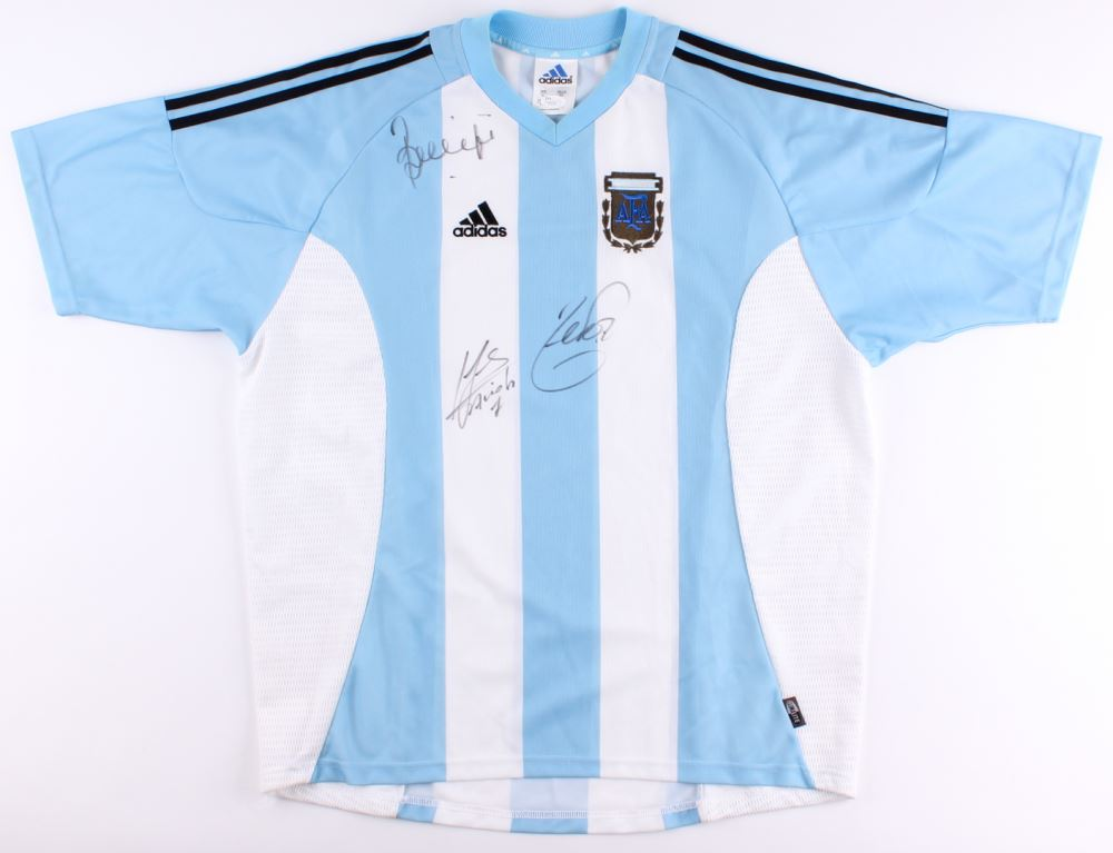 bc817d24c Image 1   Argentine Football Association Jersey Signed by (3) with Javier  Saviola