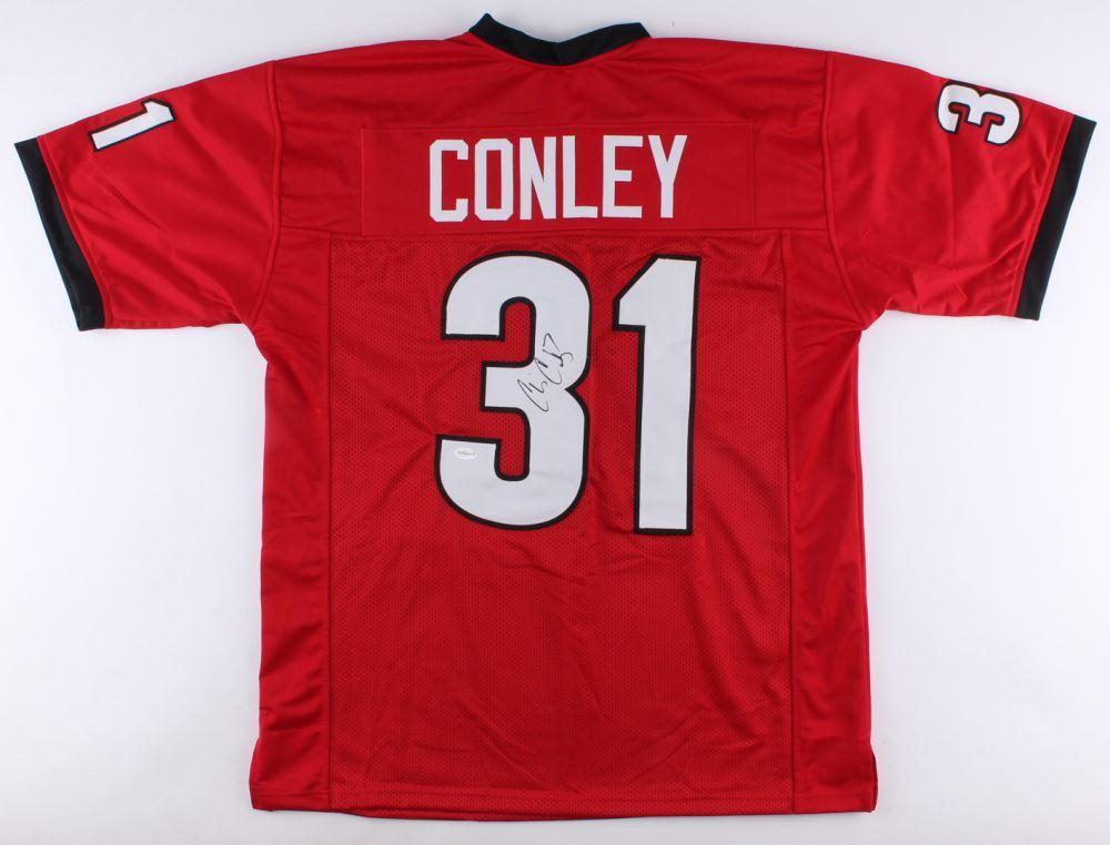 super popular 60bf9 717b6 Chris Conley Signed Georgia Bulldogs Jersey (TSE COA)