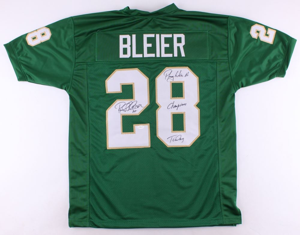 fad1bf565 Image 1 : Rocky Bleier Signed Notre Dame Fighting Irish Jersey Inscribed