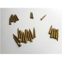 ASSORTED LOT OF MILITARY ERA .303 AMMO DATED SOME WITH BROAD ARROW MARKS