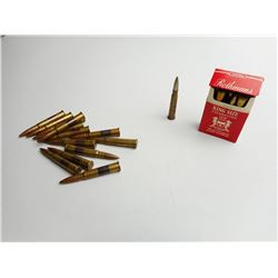 ASSORTED LOT OF MILITARY ERA .303 AMMO DATED 1938,1938, AND1944 WITH BROAD ARROW MARKS