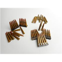ASSORTED LOT OF MILITARY ERA .303 AMMO  SOME WITH BROAD ARROW MARKS DATED 1943-44-45 SOME ON STRIPPE