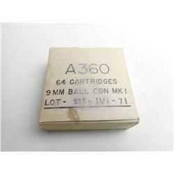 A360 9MM BALL CND MKI LOT 215 IVI -71 AMMO