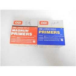 ASSORTED LOT OF CCI LARGE RIFLE PRIMERS INCLUDING  NO. 250 AND NO. 200