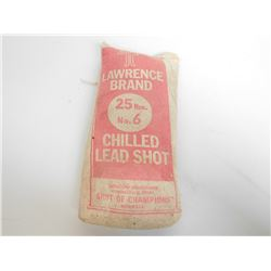 LAWRENCE BRAND NO.6 CHILLED LEAD SHOT UNOPENED