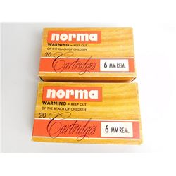 NORMA 6MM REM. AMMO