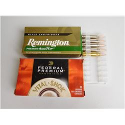 ASSORTED RNDS OF 260 REM FACTORY AMMO INCL. REMINGTON AND FEDERAL