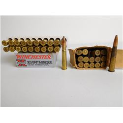 ASSORTED RNDS OF .303 BRITISH FACTORY SOFT POINT AMMO