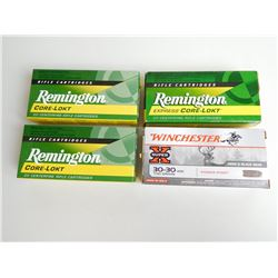 ASSOSRTED RNDS OF 30-30 WIN 150-170 GR FACTORY INCL REMINGTON AND WINCHESTER