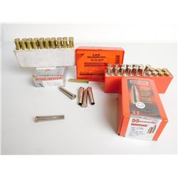 ASSORTED LOT INCLUDING LEE 32-40 RELOADING DIE SET, HORNADY 32 CAL 170 GR BULLETS 32-40 AMMO AND PRI